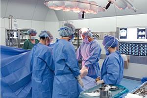 安心の無菌手術室(クラス1000)